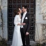 une très belle photo de couple devant la porte d'un chateau près de Metz