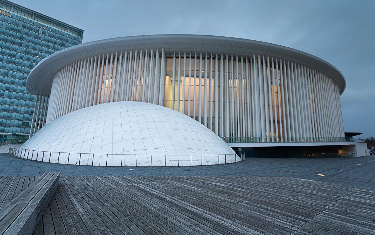Le photographe au Philharmonie du Luxembourg