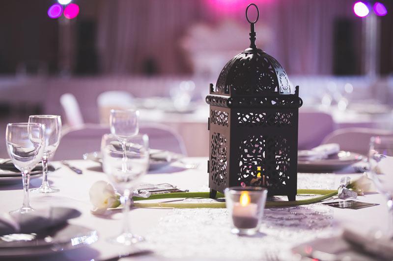 jolie décoration de table lors d'un mariage en lorraine