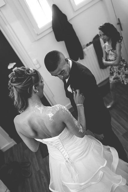la rencontre entre les futurs mariés