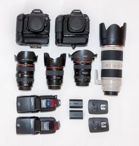 matériel pour photographe de mariage