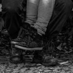 le photographe zoom sur les chaussures