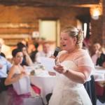 la mariée fait son discours