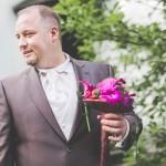 le first-look organisé par le photographe du mariage