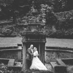 magnifique photo de couple dans un jardin japonnais
