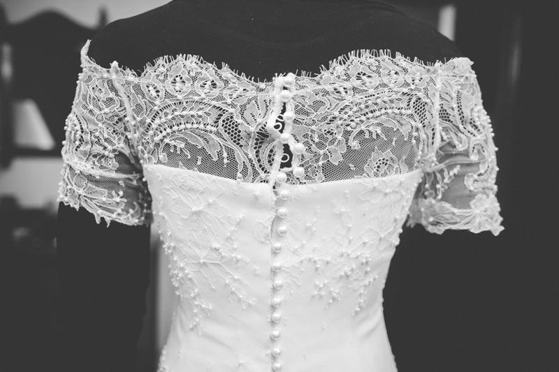 la robe de la mariée faite main