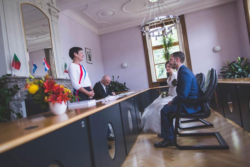 les mariés devant la maire à bettembourg