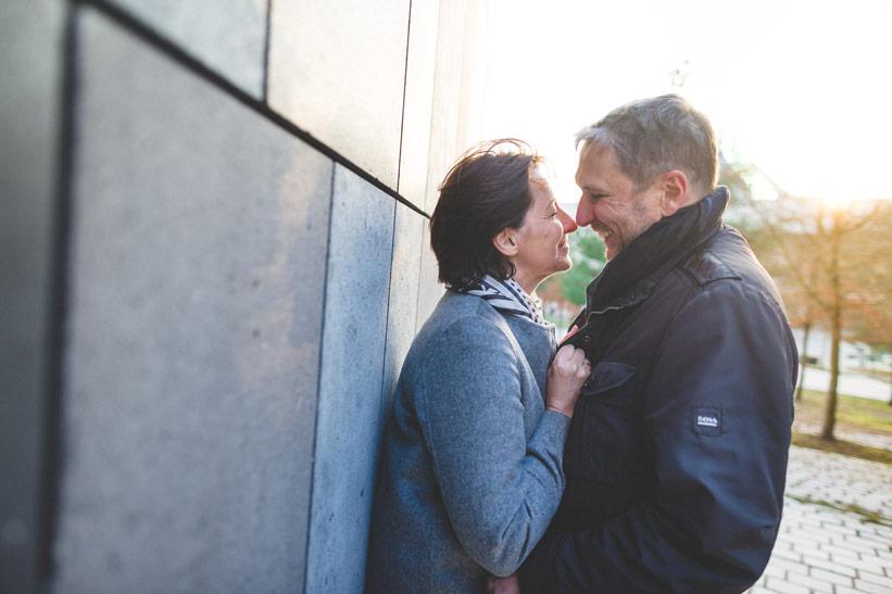 couple devant l'hotel Mélia de Luxembourg
