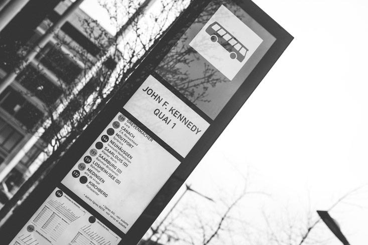 bus stop in kirchberg
