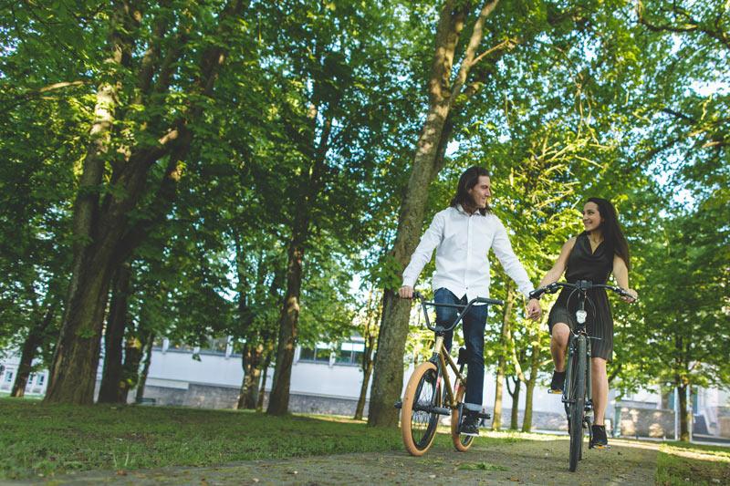 les fiançés sur leur vélo au limbersberg