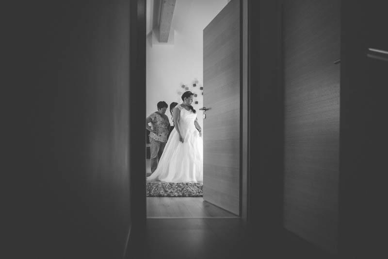 vue intime sur la chambre de la mariée