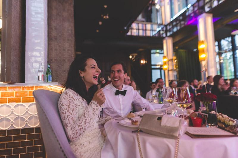 fou rire des mariés