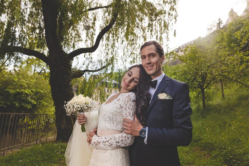 photo de mariés dans le Grund