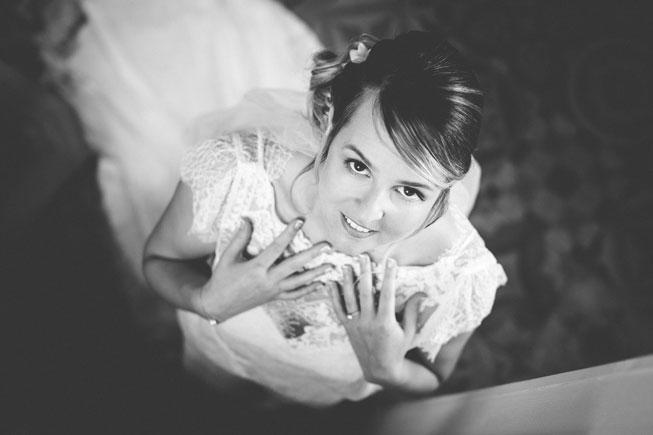 la mariée vue de haut par le photographe