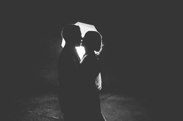 ombre chinoise des mariés