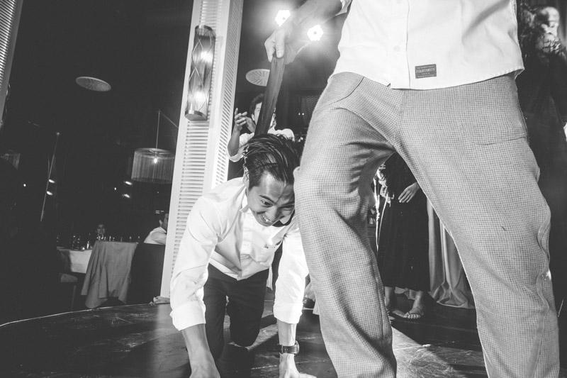 scene de folie durant le mariage
