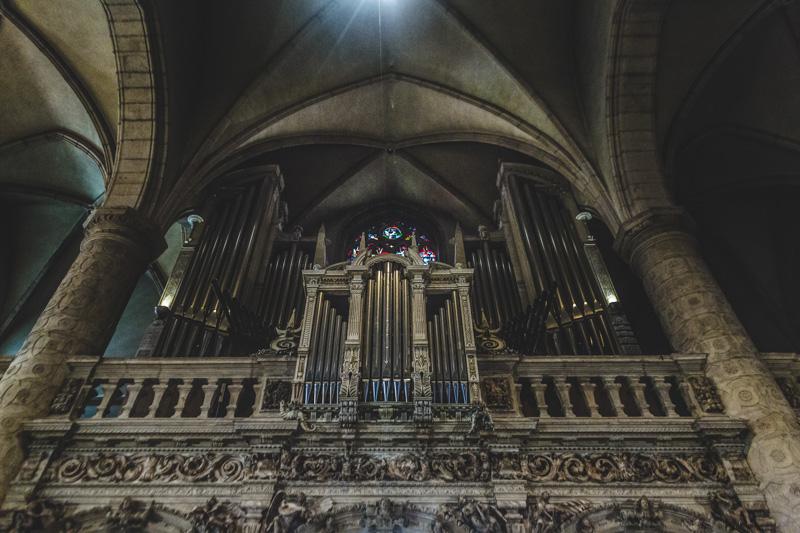 l'orgue de l'église