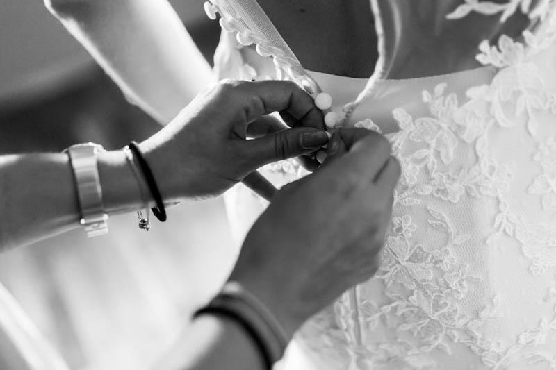 12 fermeture de la robe
