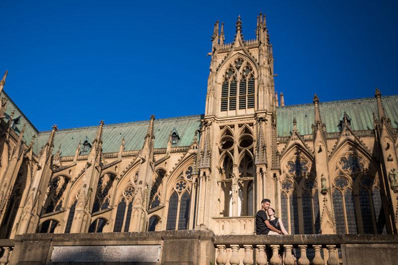sur le parking de la cathédrale de Metz