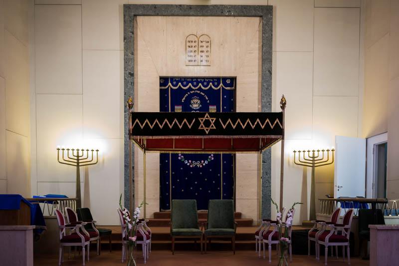 l'intérieur de la synagogue de luxembourg ville