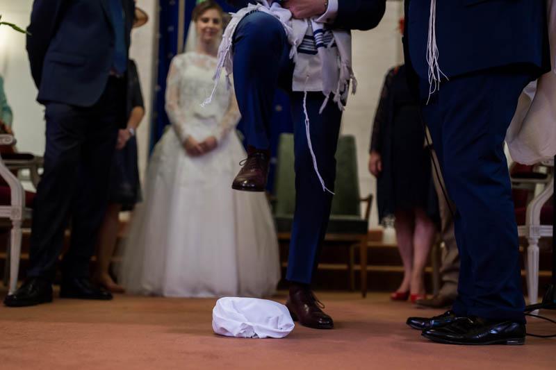 casser le verre pendant un mariage juif