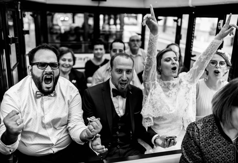 ambiance de folie dans le petit train de luxembourg