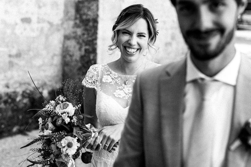 la rencontre entre les mariés