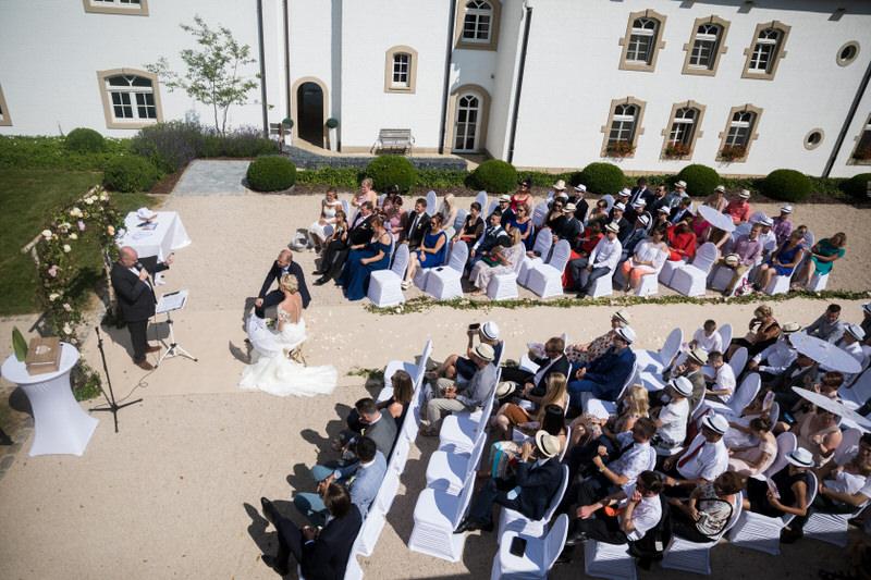 cérémonie laique au chateau d'urspelt