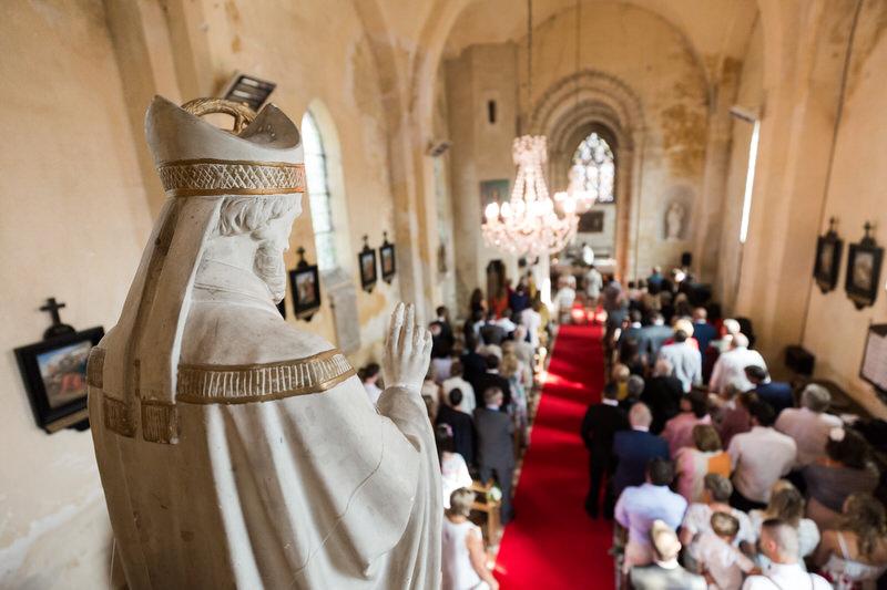 mariage célébré à l'église Saint Sulpice de Seraincourt
