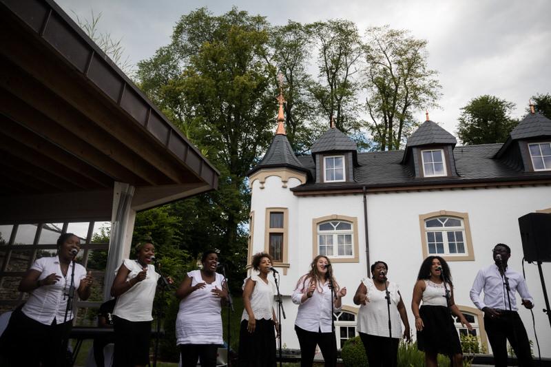 un groupe gospel au chateau d'urspelt