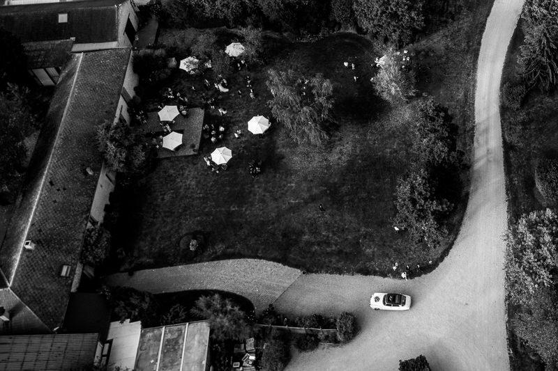 vue aérienne de la Ferme du Grand Chemin dans les Yvelines