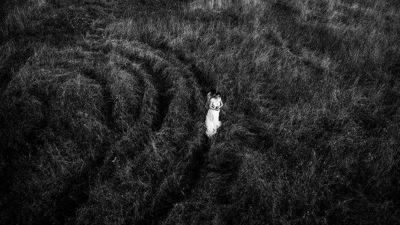 photo de mariage au drone dans les Yvelines