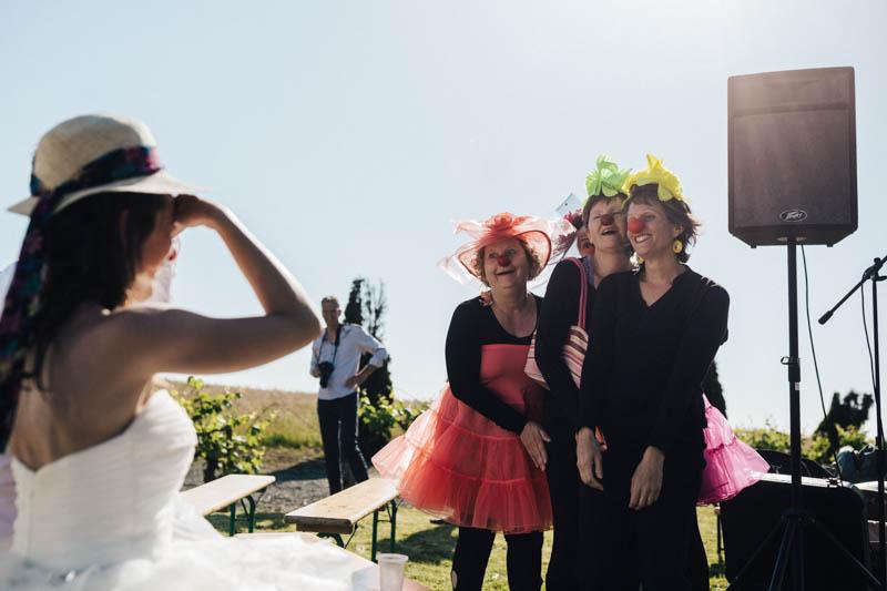 clowns at wedding in Nantes