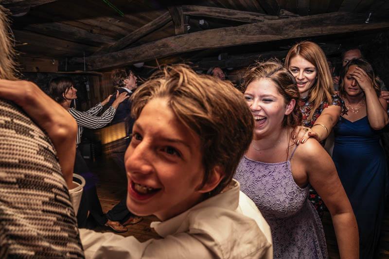 guests having fun on the dance floor