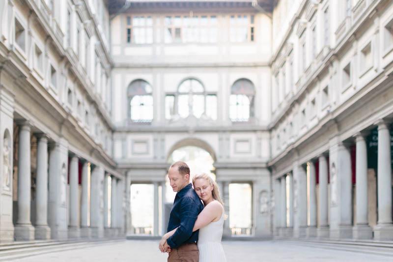 couple posant à Florence