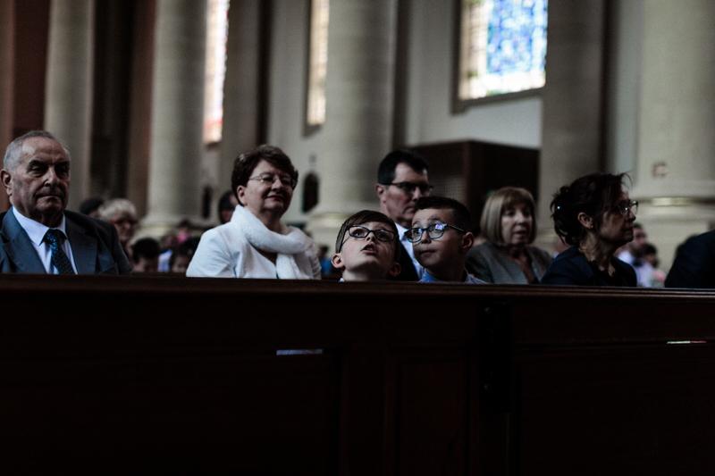enfants à l'église de thionville