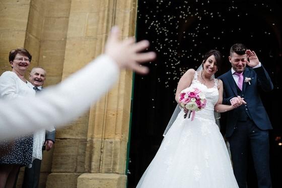 sortie des mariés à l'église de thionville