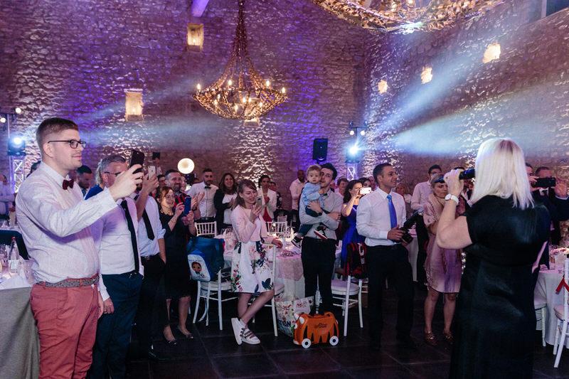 entrée des mariés au chateau de preisch