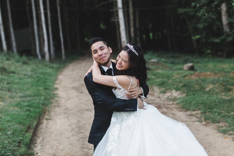 happy asian wedding couple